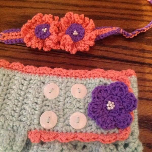 INFANT Crocheted Mermaid Blanket