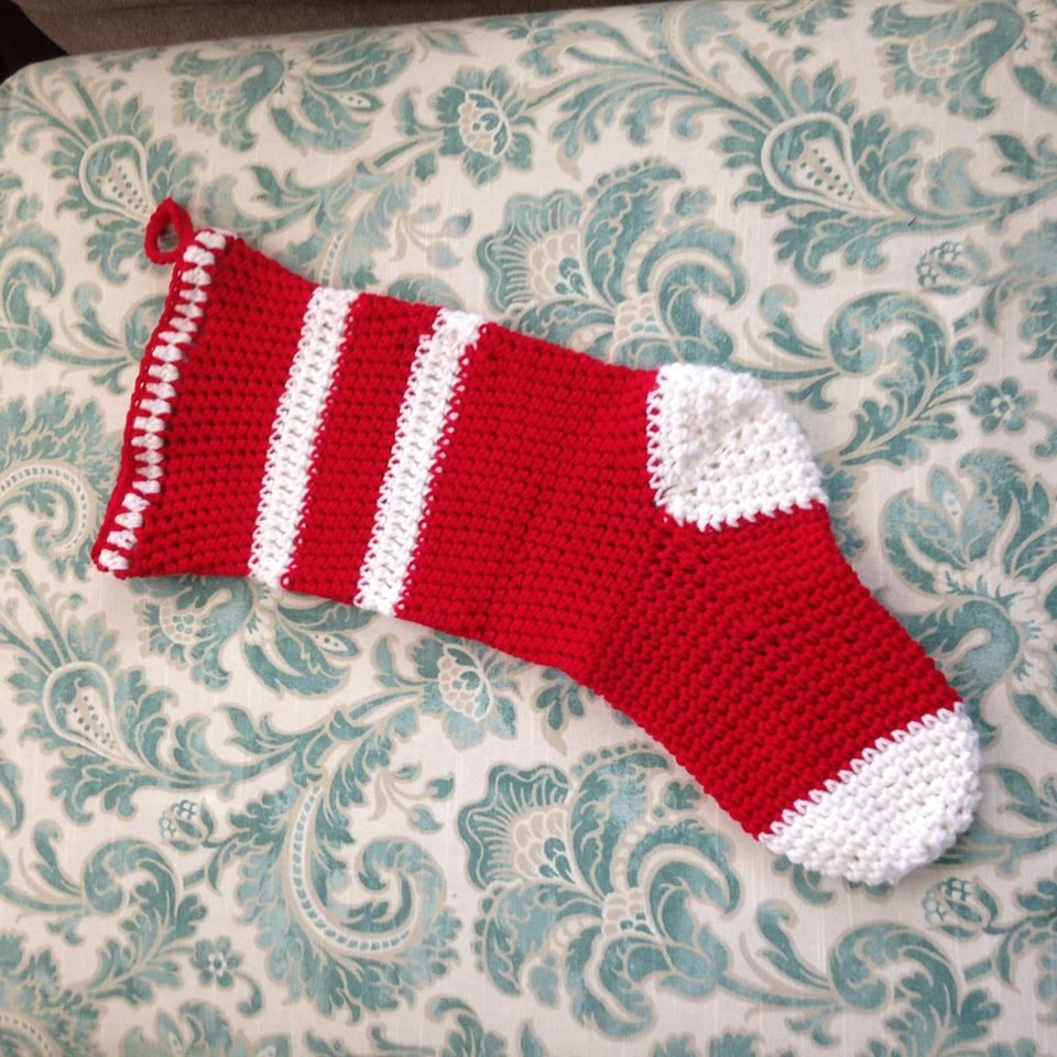 crocheted christmas stocking